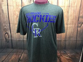 Colorado Rockies Men's T Shirt, MLB Official, Size Large, Tec Material, ... - $14.78