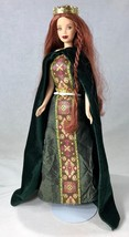 Barbie Doll Princess of Ireland Red Hair Elegant Dress Cape Crown Jewelr... - $19.34
