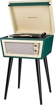 Sterling Mid Century Modern Green & Cream Stereo Record Player Turntable MCM New image 1