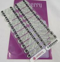 Jamberry Tout Emballé Haut 6J63 Ongle Drapé Complet Feuille Brille dans le Noir image 2