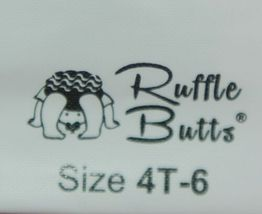 RuffleButts RLKBK4T0000 Ruffle Footless Tights Color Black Size 4T to 6 image 7