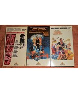 James Bond VHS Lot of 3 Vintage (Box Covers) - $19.79