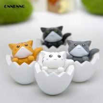 OnnPnnQ 4pcs Diy Kawaii Eggshell Toys Miniature Cute Cat - $13.95