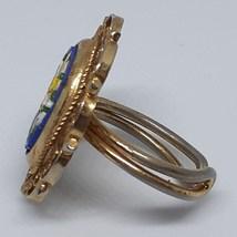 Micro Mosaic Ring Cobalt Royal Blue Vintage 40's - 50's image 7