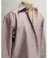 GANDER MTN MEN'S WRINKLE RESISTANT LONG-SLEEVE DRESS SHIRT SZ L 100% COT... - $6.85
