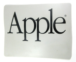"""Vintage Mouse Pad Apple Computers 1980s Gray And Black 8.75"""" x 7"""" - $14.80"""