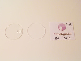 For SANDOZ 30.5mm Date Watch Replacement Glass Crystal & Gasket Spare Pa... - $22.00