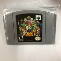 Super Smash Bros. Remix for Nintendo N64 Unreleased Fan-Made Game Cartridge NEW - $30.92