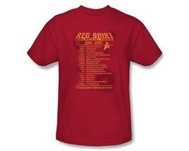 Star Trek The Original Series Security Red Shirt Galactic Tour T-Shirt U... - $19.98