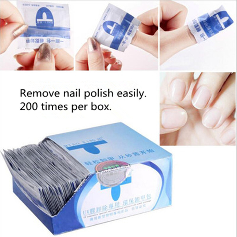 Nail Remover - 200 Pieces Of Disposable Quick Nail Remover Nail Polish Remover