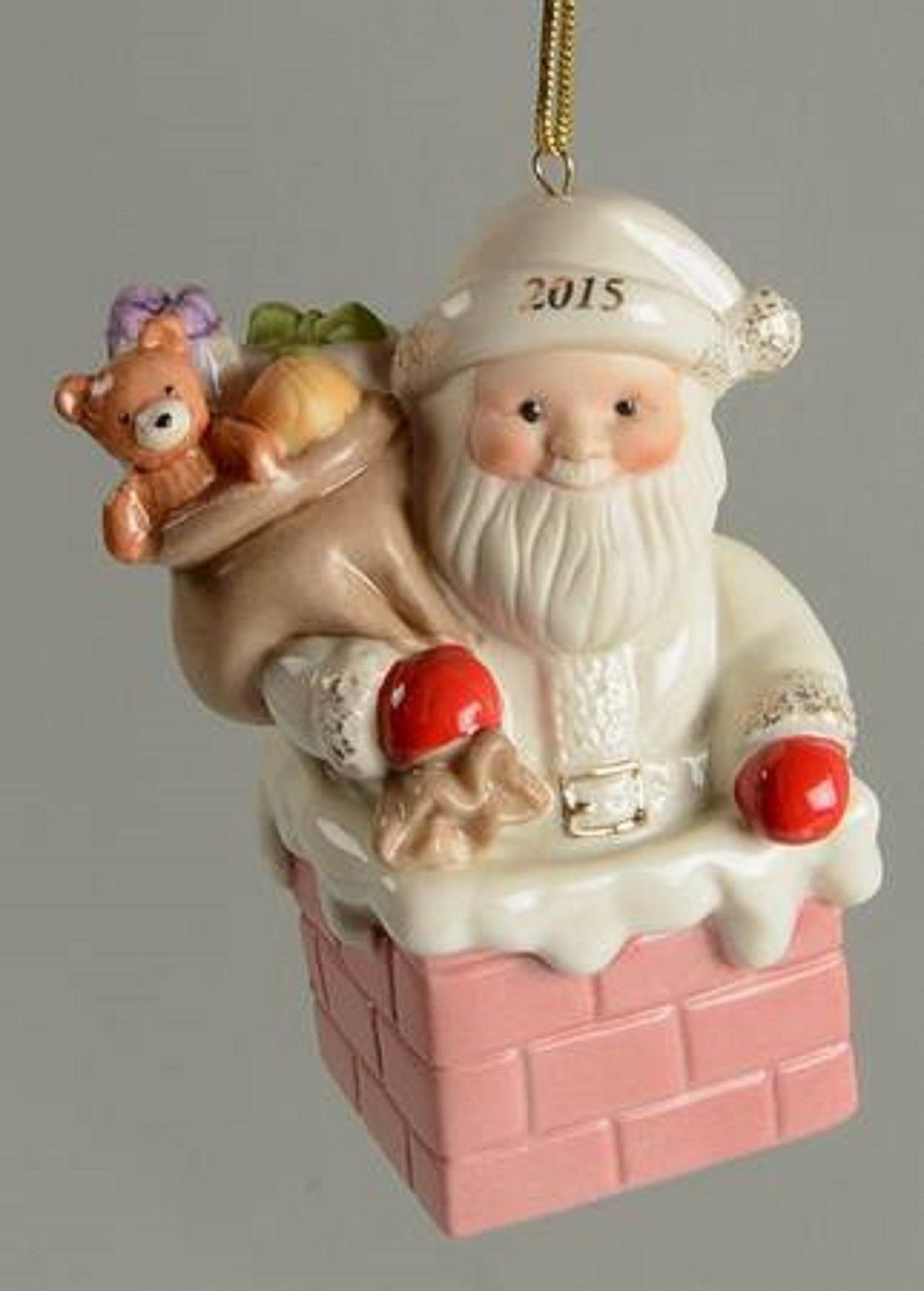 Lenox 2015 Santa Figurine Ornament Annual Santa's Gift Express Christmas NEW