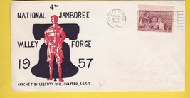 BOY SCOUTS 4th NATIONAL JAMBOREE VALLEY FORGE, PA JULY 14 1957  - $3.98