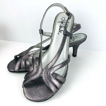 LifeStride Lovable 8 M Slingback Sandal Gray Silver Open Toe Strappy Kit... - $49.49