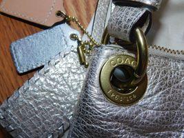 Coach Poppy Metallic Leather Whipstitch Hippie Convertible Bag 19014 Platinum image 10
