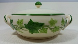 Vintage Franciscan Ivy Earthenware Round Covered Casserole Bowl Vegetable Bowl - $99.99