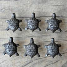 6Pcs Vintage Turtle Tortoise Cast Iron Door Cabinet Drawer Knobs Handles... - $27.72
