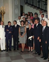 President John F. Kennedy and Jackie at Military Reception New 8x10 Photo - $6.61