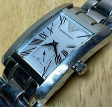 Emporio Armani Mens Small Seconds Curved Roman Analog Quartz Watch Hour~... - $45.59