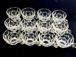 VTG 1930-40's Heisey Whirlpool Clear glass Punch Cup set of 12 marked - $110.09