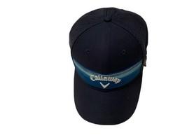 Callaway Mens Stripe Mesh Hat Adjustable Golf Cap Navy Color - $26.90