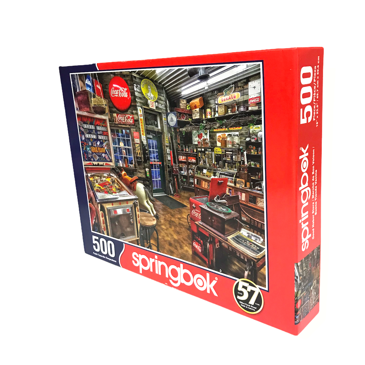 Good Nabor Store By Springbok 500 Piece Jigsaw Puzzle Vintage Coca Cola Items - $12.84
