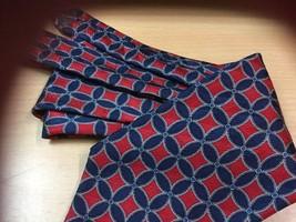 """ROBERT TALBOTT Best of Class Silk Neck Tie RED NAVY 3.75"""" x 58"""" Retail $58 - $5.00"""