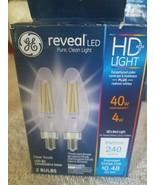 GE Reveal LED HD Light LED BC Candelabra Base 2 Bulbs - $30.57