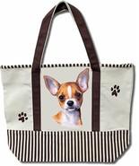 Tan Chihuahua Dog Canvas Tote Bag Pet Shopping Purse Beach Diaper Puppy Travel - $29.88