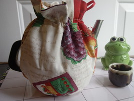 Vintage cotton handmade for 6-8 Cup  Reversible, Insulated Tea Pot Cozy ... - $48.00