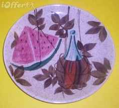 "EAMES ERA MID CENTURY MODERN RETRO--REDWING TAMPICO DINNER PLATE 10 1/2"" - $17.45"