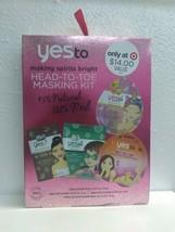 YesTo Head To Toe Masking Kit Making Spirits Bright 4 Single Use Masks