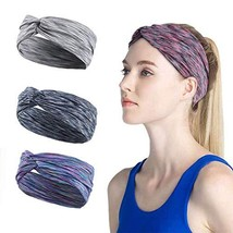 Wide Yoga Headbands for Women Men Non slip Sweatband workout Sweat Bands Elastic