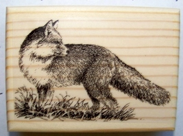 Fox Looking Back ~ New Mounted Rubber Stamp - $8.50