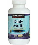 Kirkland Signature Daily Multi Vitamins & Minerals Tablets, 500-Count Bo... - $23.63