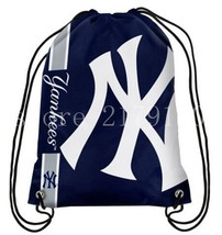 35*45 cm knitted polyester New York Yankees backpack sports bag with rop... - $21.59 CAD