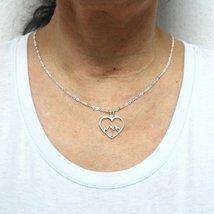 Mountain Range Heart Necklace Pendant image 2