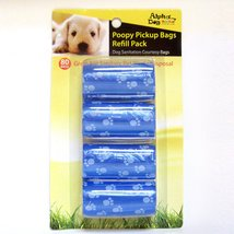 Alpha Dog Series Poopy Pick up Bags Refill Pack 40BAGS - BLUE (Pack of 4) - $15.00