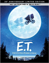 E.T. The Extra-Terrestrial 35th Anniversary (4K Ultra HD + Blu-ray)  - $14.95
