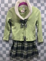 JENNY & ME Green Plaid Dress & Jacket Girls Size 8 - $5.79