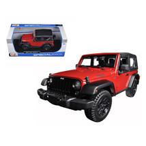 2014 Jeep Wrangler Willys Red 1/18 Diecast Model Car by Maisto 31676r - $49.05