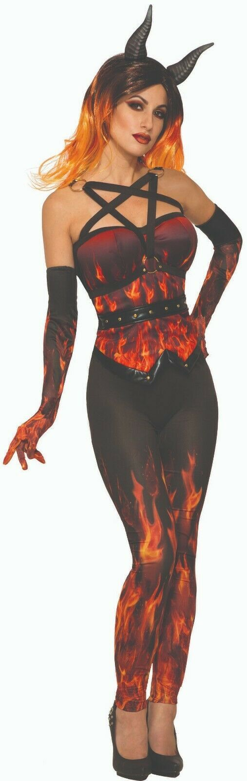 Primary image for Forum Novelties Demons & Devils Fire Corset Adult Womens Halloween Costume 80746