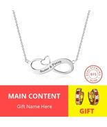 Fashion Personalized Necklaces 925 Sterling Silver Infinity Pendant Cust... - £15.54 GBP