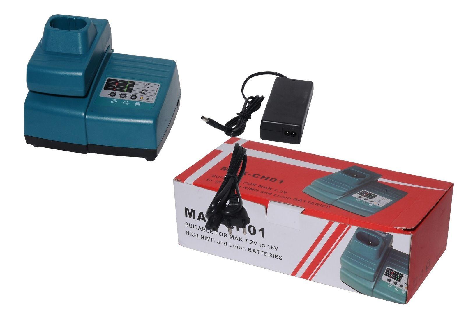 Max Charger for Makita DC18RA DC18SC DC1803 DC14SA 7.2V-18V Ni-CD/Ni-MH/ Li-ion image 2