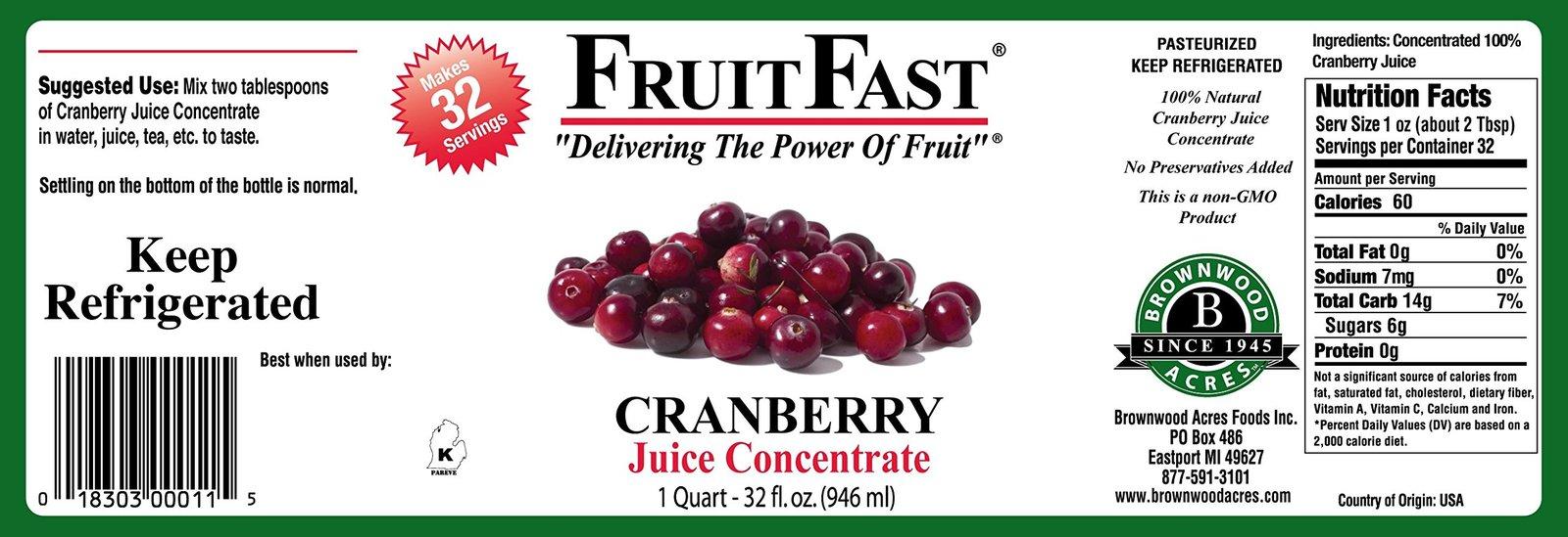 "1 QUART Tart Cherry & 1 QUART Cranberry ""Cold Filled"" Juice Concentrates - Shipp image 6"