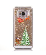 Case for Galaxy S6,[Liquid Glitter] Christmas Santa Claus Shiny Flowing ... - $9.46