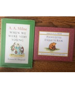 Set of 2 A  A  Milne When we Were very young Pooh's little etiquette boo... - $14.97