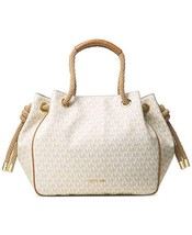 NWT Michael Kors Dalia Women's Signature Large Shoulder Handbag, Vanilla - $189.13