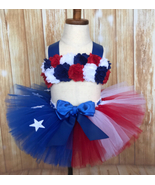 American Flag Tutu Set, Patriotic Pageant Tutu Set - $40.00+