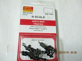 Micro-Trains Stock # 00302004 (1012) Arch Bar Trucks Long Extension N-Scale image 4