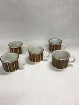 5 pcs staffordshire MID WINTER tea coffee cups ceramic mid Century - $29.69